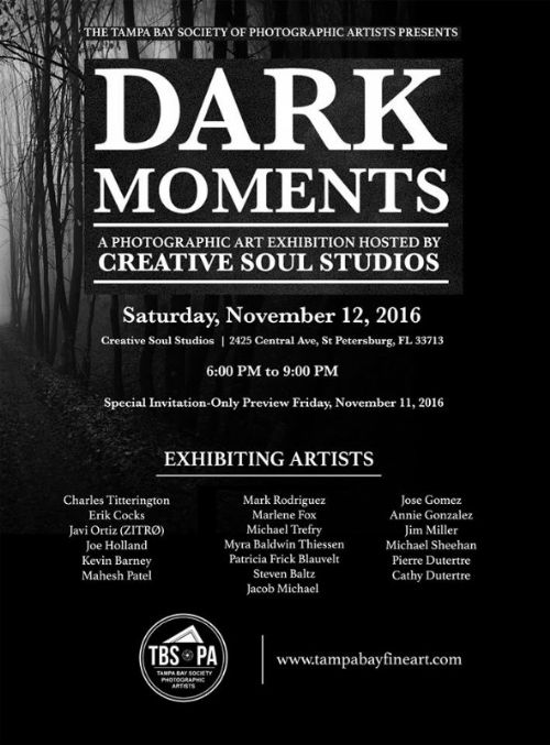 TBSoPA Announces Its Artist Line-Up for Dark Moments Art Show In St Petersburg